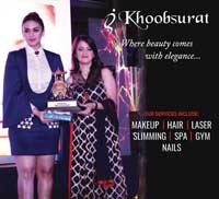 Huma Qureshi giving Best Makeup Artist Award.