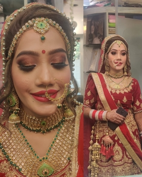 Gold Tone Bridal Makeup Look