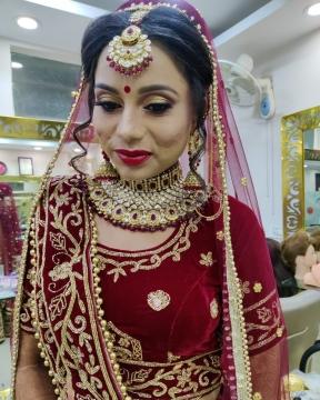 Red Glam Bridal Makeup Look
