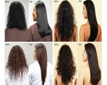 Permanent Hair Straightening in Kurung Kumey