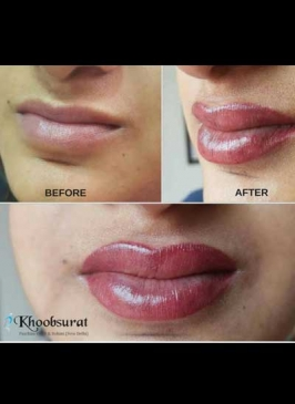 Permanent lip coloring in Model Town